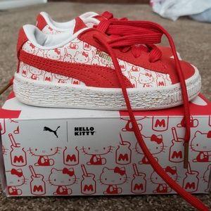 Kids Size 7 Hello Kitty Puma Shoes